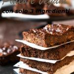 brownies paleo e vegani con solo 3 ingredienti immagine