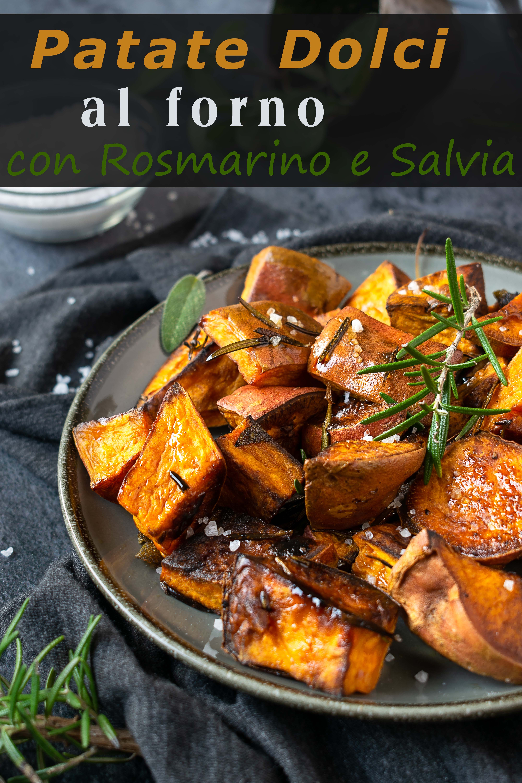 patate dolci al forno con rosmarino e salvia immagine