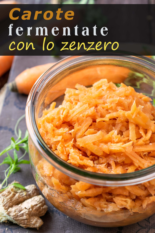 carote fermentate con lo zenzero