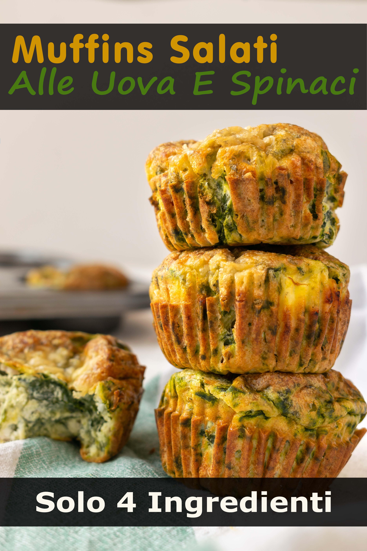 Muffins Salati Alle Uova E Spinaci (Solo 4 Ingredienti) immagine