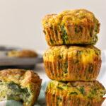 Muffins salati alle uova e spinaci immagine