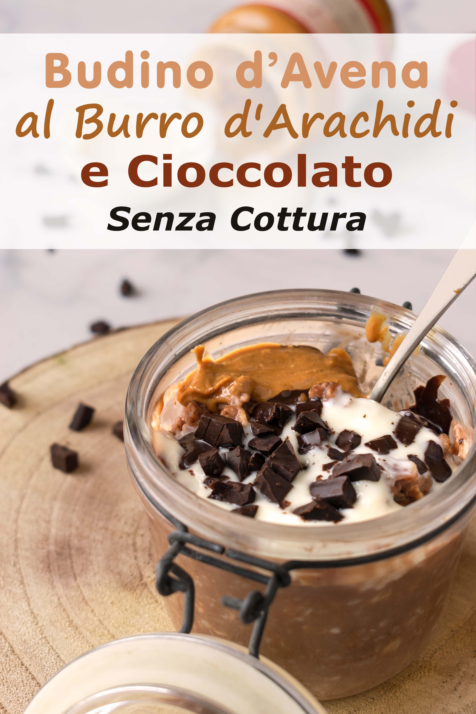 Budino d'avena al burro d'arachidi e cioccolato senza cottura immagine