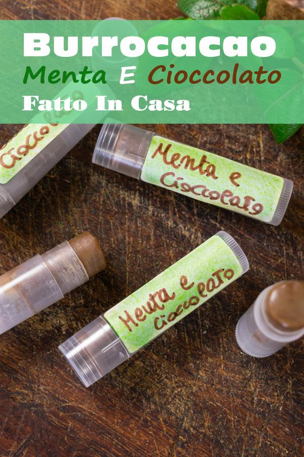 Burrocacao Menta E Cioccolato Fatto In Casa immagine